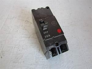 Ge General Electric Tey220 2 Pole 20 Amp 277  480 Volt 2