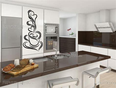 stickers cuisine design stickers muraux cuisine café design 1643fr