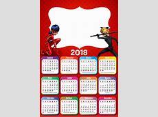 Calendário 2018 Ladybug Imagem Legal