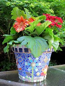 Mosaic, Flower, Pots, U2013, Q, Is, For, Quilter