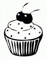 Cupcake Coloring Pages Printable Cup Cupcakes Cake Cartoon Clipart Cakes Cliparts Cartoons Popular Getcoloringpages Library Hard sketch template