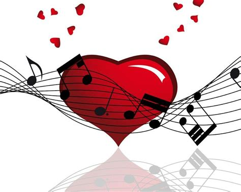 Cut large hearts out of red construction paper and laminated them. Music notes and hearts | Music notes, Music drawings ...