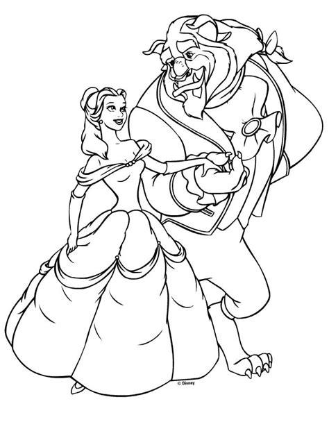 disney princess belle coloring pages  kids