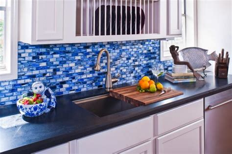 blue glass backsplash kitchen inspiring kitchen backsplash design ideas hgtv s 4808