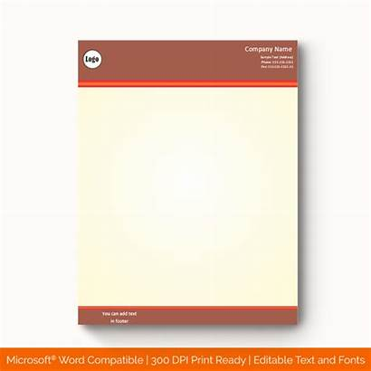 Template Brown Letterhead 1151 Personal Templates Blank