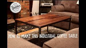 Metal And Woods : how to make an industrial furniture wood and metal coffee ~ Melissatoandfro.com Idées de Décoration