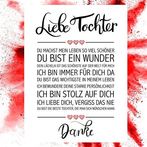 Liebe Tochter Kunstdruck | Mutter zitate, Gedichte für ...
