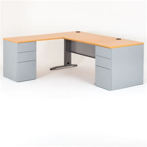 bureau dangle bureau d 39 angle quadra 2 caissons métal bdmobilier