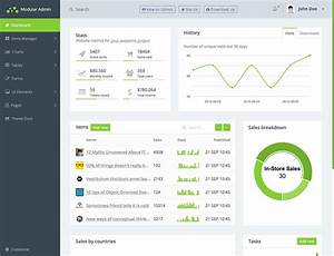 20 best free bootstrap admin templates 2018 themelibs With admin area template