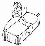 Bed Clipart Colouring Coloring Monster Webstockreview sketch template