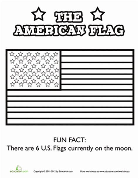 The American Flag  Worksheet Educationcom