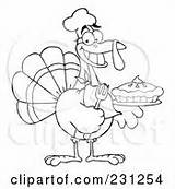Coloring Pie Outline Cream Whipped Thanksgiving Clipart Turkey Holding Bird Rf Royalty Pumpkin Fresh Pages Poster Template Toon Hit sketch template