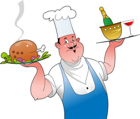 cuisinier dessin couleur cuisinier en service