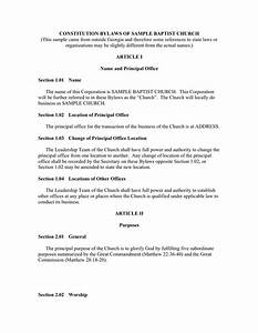 church constitution sample pdf templates resume With constitution and bylaws template