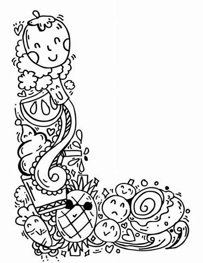 Doodle Alphabet Elephant Bell Artpal Drawings None