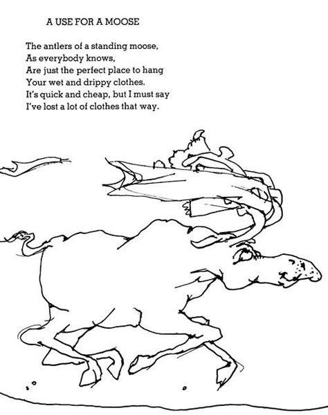 A Use for a Moose | Shel silverstein poems, Silverstein