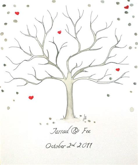 thumbprint tree guestbook wedding guest book tree by fionaeverette 55 00 how to