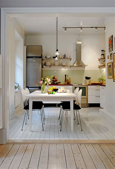 interior design for kitchen and dining magnificent interior small apartment kitchens with square dining table and cozy chairs plus