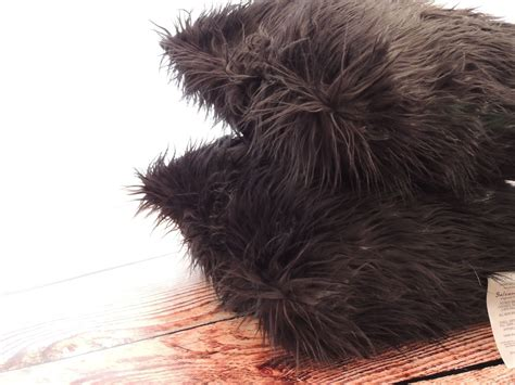 hand crafted mongolian black faux fur