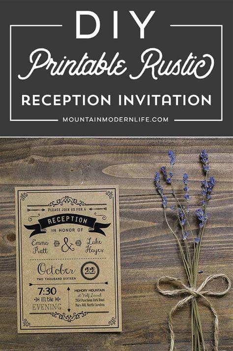 Printable Black DIY Reception Only Invitation Template