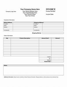 blank invoice form download free template With blank invoice pdf download free