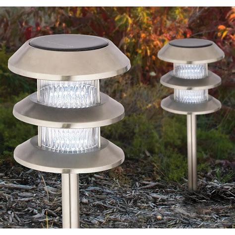 2 high output solar lights 461801 solar outdoor