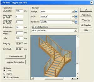 berechnung treppe podesttreppe grundrisse planen zeichnen