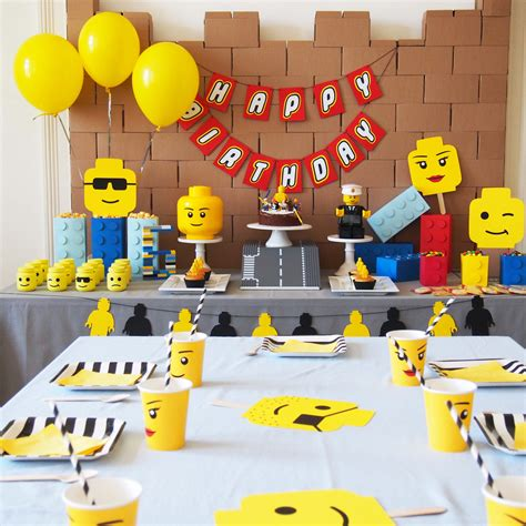 lego party decoration anniversaire garcon deco
