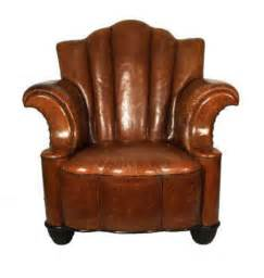 fabulous deco leather club chair h33636675 for sale