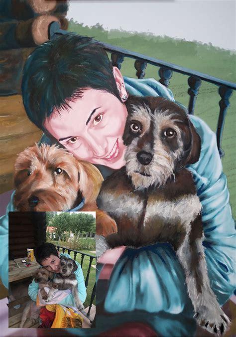 cuadro de oleo sobre lienzo sobre una chica  sus dos