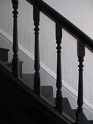 Black and White Painted Staircase