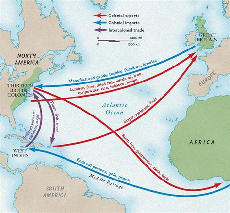 colonial trade routes  goods national geographic society