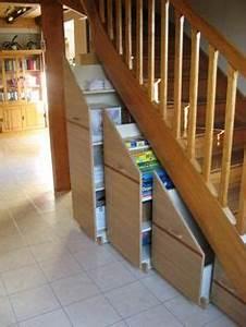 Aménagement Sous Escalier : 1000 images about sous escalier on pinterest stairs bricolage and armoires ~ Preciouscoupons.com Idées de Décoration