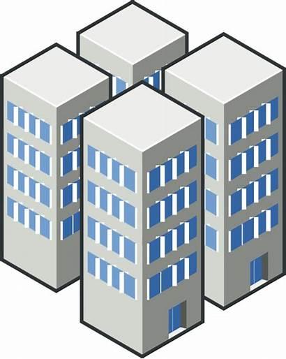 Condos Buildings Condominium Clipart Rise Vector Clip