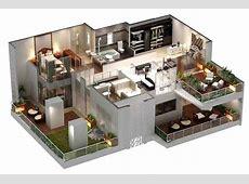 Villa6 3D House Plans & Floor Plans Pinterest Home