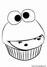 Cupcake Coloring Pages Cute Muffin Easy Printable Funny Food Faces Simple Drawing Outline Cupcakes Print Sesame Street Sheet Clipartmag Christmas sketch template