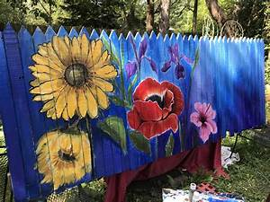 Pin, By, Carolyn, Shoemaker, On, Fence, Painting, In, 2020