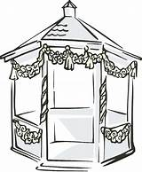 Gazebo Clipart Clip Pavilion Garden Cliparts Outdoor Library Clipground Webstockreview Drawings 79kb 400px sketch template