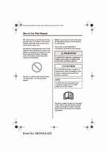 2003 Mazda 6 Owners Manual