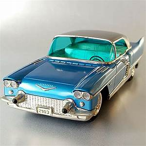 Vintage Marusan Friction Limited Tin Car Toy Cadillac Eldorado Japan With Box