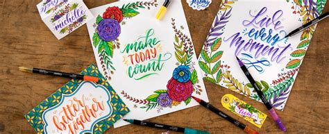 signature series hand lettering  art sets crayola