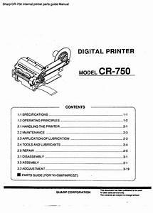 Sharp Cr-750 Internal Printer Parts Guide Manual Pdf