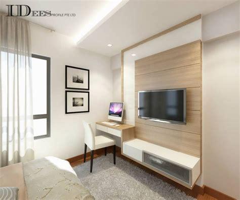 Small Master Bedroom Design Singapore by Study Hdb Dbss Parkland Residences Interior Design
