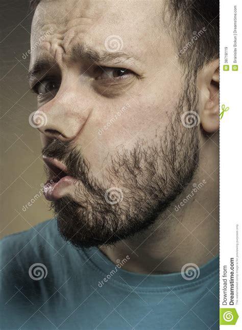 faces hit  glass stock image image  portrait