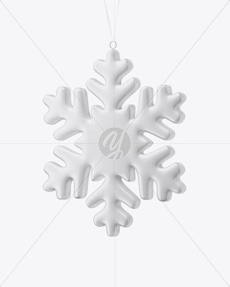 This mockup is available for purchase only on yellow images. Download Matte Snowflake Mockup - Half Side View PSD