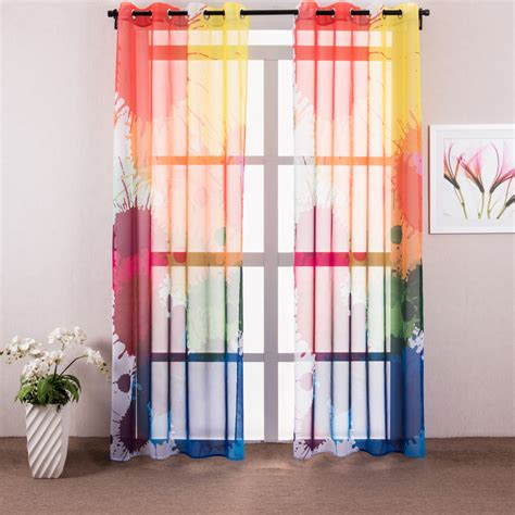 Europe Design Colorful Curtain For Bedroom Decorative