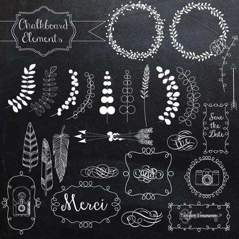chalkboard elements  vectors illustrations creative