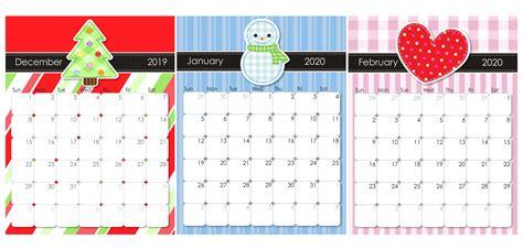 december   february  calendar holidays