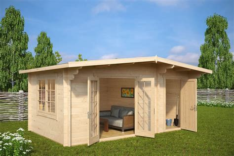 large storage buildings summer house with shed otto 15m2 44mm 5 x 3 m