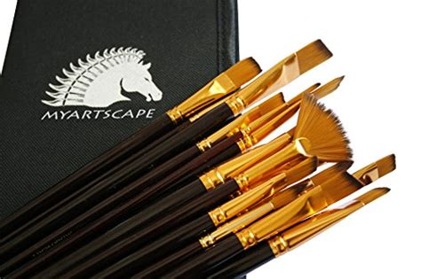 paint brushes 15 pc brush set for watercolor acrylic